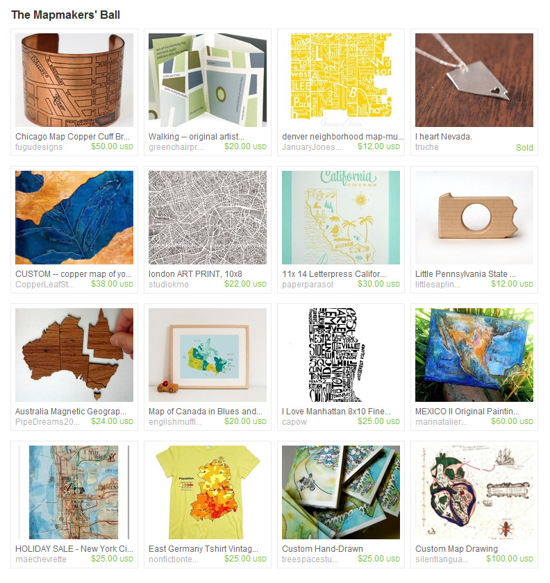 Etsy Treasury The Mapmakers Ball The Art of Amy T Won