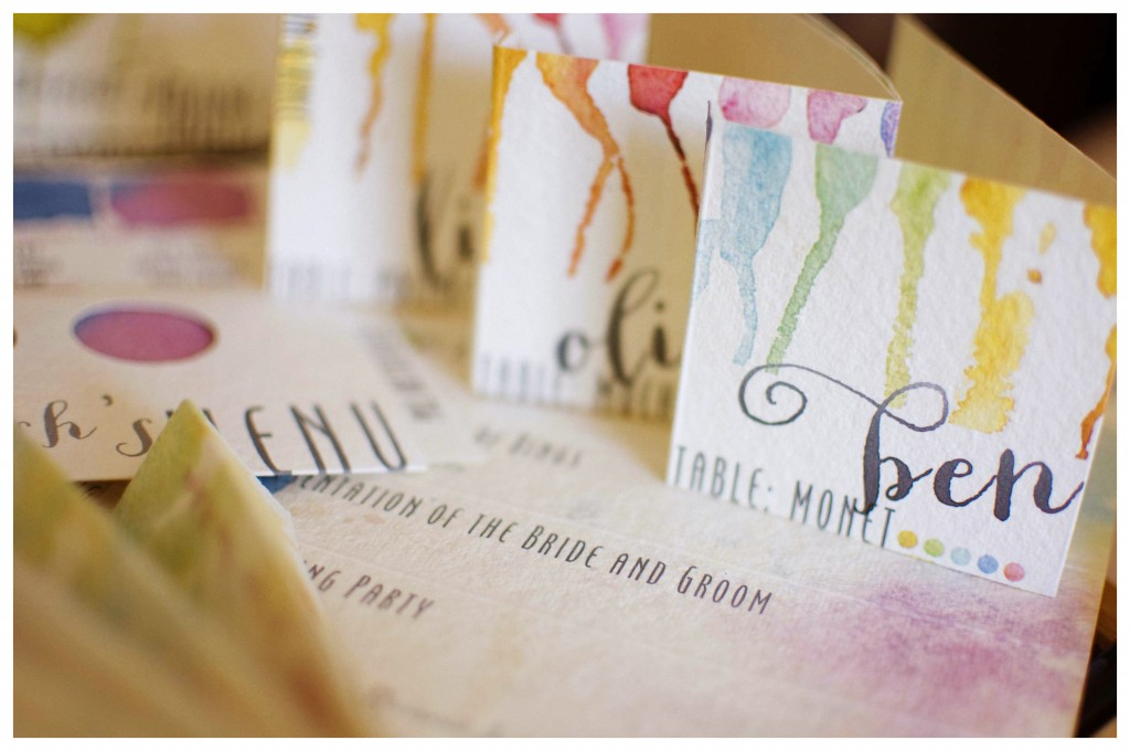 Watercolor Wedding Favors