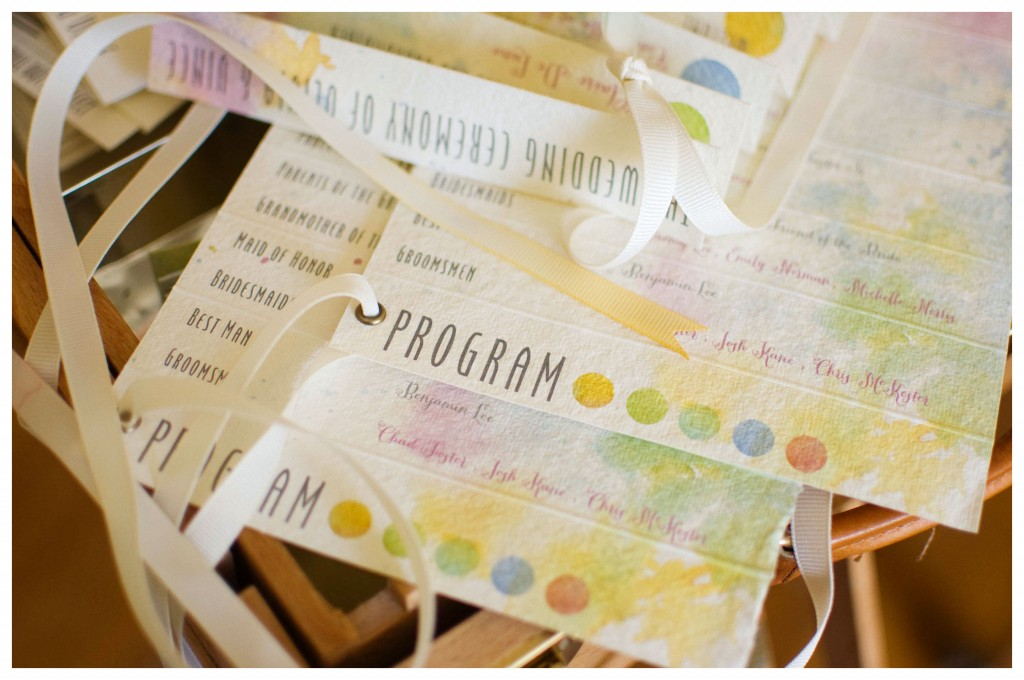 Watercolor Wedding Program